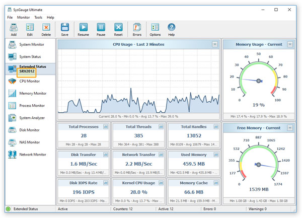 SysGauge Remote Server Monitoring